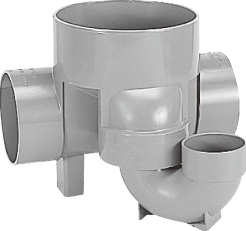 下水道関連製品>ビニマス>M 125-200シリーズ トラップ(UT) M-UT右125X75S-200 Mコード:41479 前澤化成工業