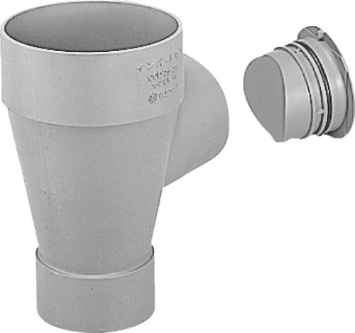 下水道関連製品>ビニマス>M 125-200シリーズ ドロップキャップ付(DR) MC-DR125PX125-200 Mコード:41485 前澤化成工業
