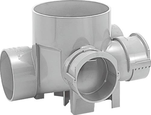 下水道関連製品>ビニマス>MA 125-200シリーズ 平行/90度合流段差付(H-YS) MA-H-YS右125X100-200 Mコード:41506 前澤化成工業
