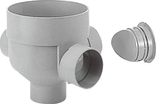 下水道関連製品>ビニマス>M 125-300シリーズ 90度左右合流ドロップC付 MC-DR90WY125P125-300 Mコード:41583 前澤化成工業