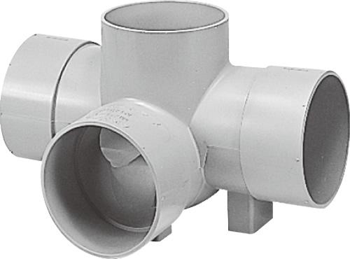下水道関連製品>ビニマス>M 150シリーズ 左右合流段差付(WLS) M-WLS150-150 Mコード:41636 前澤化成工業