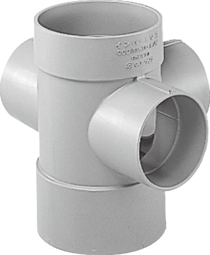 下水道関連製品 ビニマス M 150シリーズ 90度左右合流ドロップ M-DR90WY150X100-150 Mコード:41644 前澤化成工業