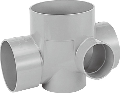 下水道関連製品>ビニマス>M 150-200シリーズ 90度合流(90Y) M-90Y左150X100-200 Mコード:41751 前澤化成工業