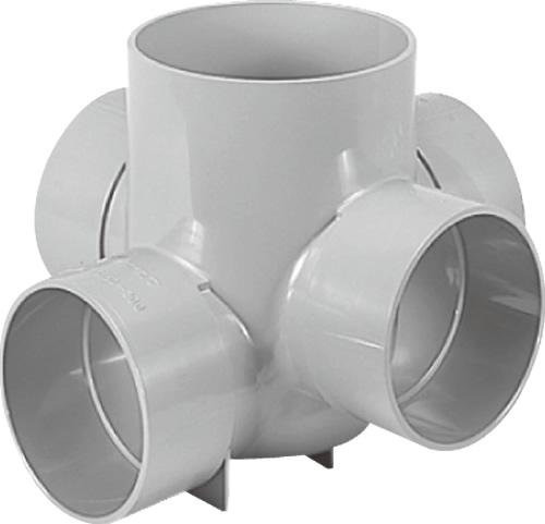 下水道関連製品>ビニマス>M 150-200シリーズ 90度左右合流段差付(90WYS) M-90WYS150-200 Mコード:41757 前澤化成工業