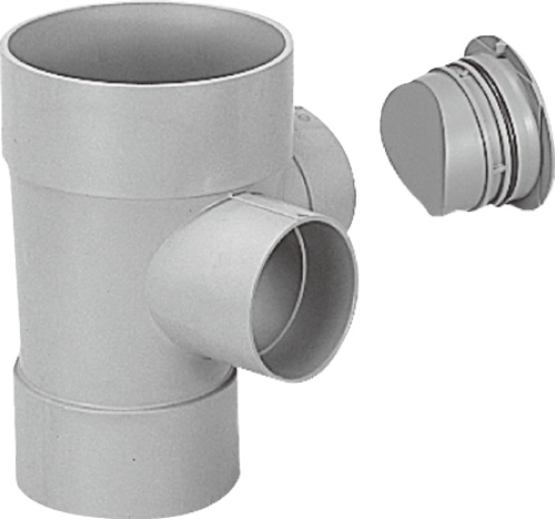 下水道関連製品>ビニマス>M 150-200シリーズ 90度合流ドロップC付(DRY) MC-DRY左150PX100-200 Mコード:41789 前澤化成工業