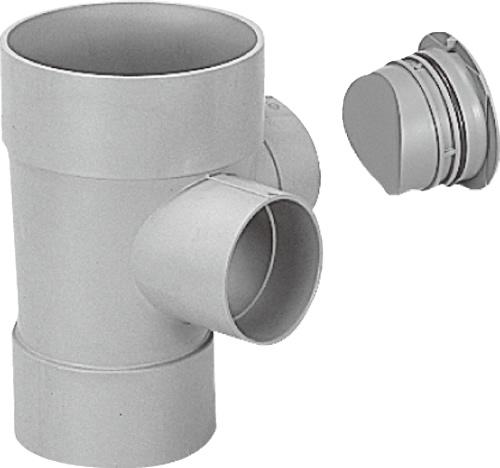 下水道関連製品>ビニマス>M 150-200シリーズ 90度合流ドロップC付(DRY) MC-DRY左150-200 Mコード:41791 前澤化成工業