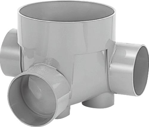 下水道関連製品>ビニマス>M 150-300シリーズ 左右合流段差付(WLS) M-WLS150-300 Mコード:41872 前澤化成工業