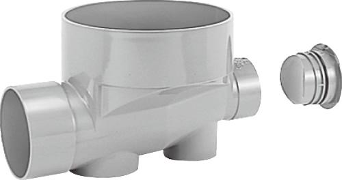 下水道関連製品>ビニマス>M 150-300シリーズ ストレートキャップ付(ST) MC-ST150X125-300 Mコード:41886 前澤化成工業