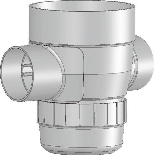 下水道関連製品>雨水マス/雨水浸透マス>PVC製雨水マス UMA UMA 150-300シリーズ UMA-90L150-300 Mコード:42093 前澤化成工業