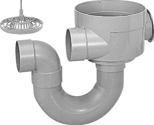 下水道関連製品>ビニマス>目皿付トラップマス MUK 200型 90MUK75-200 蓋無 Mコード:45834 前澤化成工業