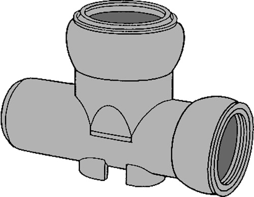 下水道関連製品 ビニホール 傾斜対応型ビニホール 200 KFVHF200-200シリーズ KFVHF-15L左200-200 Mコード:46110 前澤化成工業