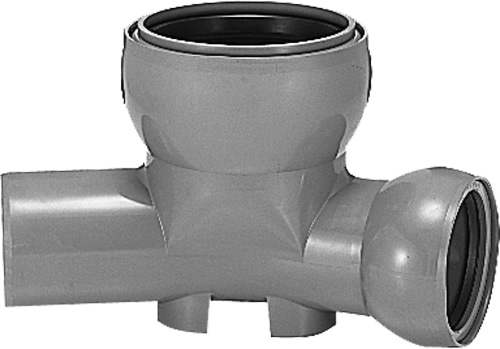 下水道関連製品>ビニホール>傾斜対応型ビニホール 300 KFVHF200-300シリーズ KFVHF-30L左200-300 Mコード:46316N 前澤化成工業