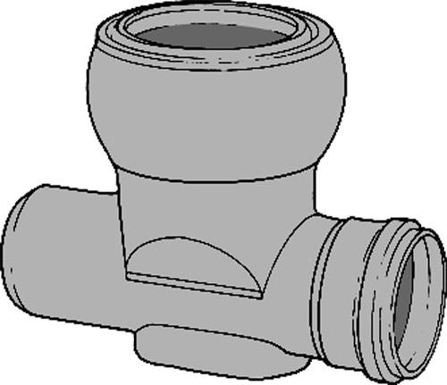 下水道関連製品>ビニホール>傾斜対応型ビニホール 300 KFVHR200-300シリーズ KFVHR-90L左200-300 Mコード:46325N 前澤化成工業