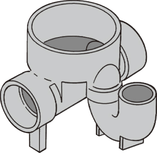 下水道関連製品 ビニマス M 100-200シリーズ トラップ (UT) M-UT兼100X100P-200 Mコード:49762 前澤化成工業