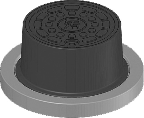 下水道関連製品>防護蓋>200シリーズ T8Aタイプ BH-T8A200B^ウスイ Mコード:60236 前澤化成工業