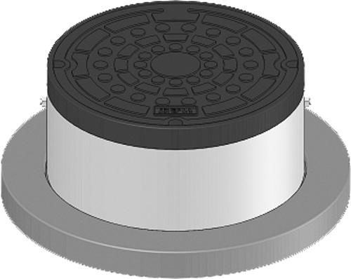 下水道関連製品 防護蓋 300シリーズ T8Bタイプ BH-T8B300B^うすい Mコード:60627 前澤化成工業