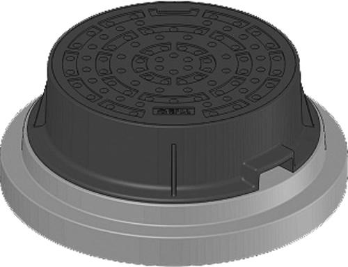 下水道関連製品 防護蓋 300シリーズ T14Aタイプ BHK-T14A300B N Mコード:60640 前澤化成工業