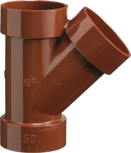 下水道関連製品 排水特殊継手 VP耐熱継手 HTVP45度Y HTVPY HTVPY100 Mコード:77616 (前澤化成工業、積水、東栄管機 他) 配管部品,管材