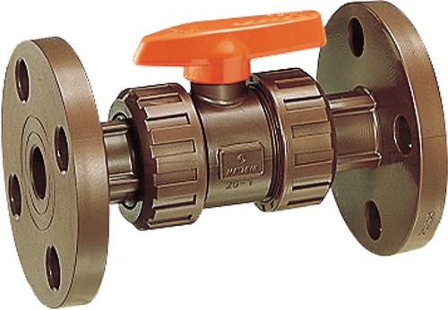 その他製品>MSバルブ>耐熱HT 自在型ボールバルブ フランジ式 HT-VBFU HTVBFU50赤 Mコード:85737 前澤化成工業
