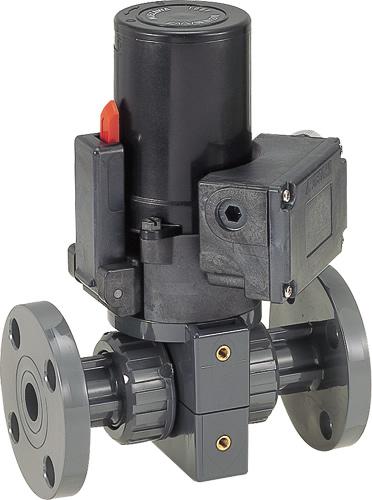 その他製品>MSバルブ>電動ボールバルブ フランジ式100V/VBEF VBEF25-100 Mコード:86299 前澤化成工業