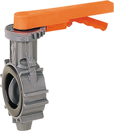 その他製品>MSバルブ>バタフライバルブ レバー式フランジレスタイプVKL VKL-100プラント Mコード:87629 前澤化成工業