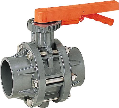 その他製品>MSバルブ>バタフライバルブ レバー式TSフランジ付VTFL VTFL-150プラント Mコード:87641 前澤化成工業