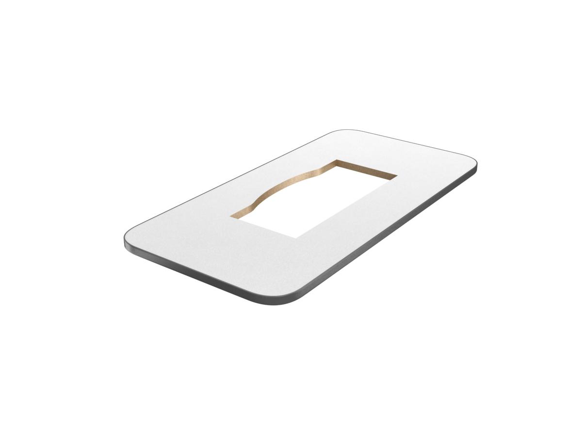 【BT-F60D-W】三菱喫煙用集塵・脱臭機/スモークダッシュ テーブル板 奥行60cm 灰皿なし 換気扇