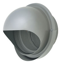 AT-175MNSJD4-BL メルコエアテック 外壁用 (ステンレス製) 丸形フード (ワイド水切タイプ) |網 AT175MNSJD4BL [代引不可]