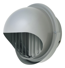 【AT-250MWSJ5】 メルコエアテック 外壁用(ステンレス製) 丸形フード(ワイド水切タイプ) 縦ギャラリ・網 【AT250MWSJ5】 【代引き不可】
