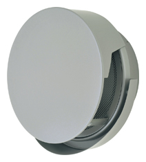 【AT-250TCNSJ】 メルコエアテック 外壁用(ステンレス製) 丸形防風板付ベントキャップ(覆い付・ワイド水切タイプ)|網 【AT250TCNSJ】 【代引き不可】