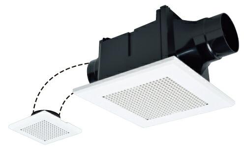 天井埋込形換気扇 新色追加 2部屋用低騒音形 あす楽 三菱 換気扇 VD-10ZFC12 2部屋同時換気 旧品番:VD-10ZFC10 天井埋込形 トイレ 洗面所用 セットアップ 浴室 ACモーター搭載 ダクト用換気扇