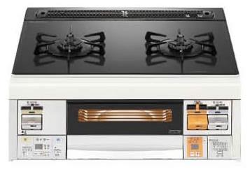 ノーリツ・ハーマン ビルトインコンロ Mi-fit C2WJ7RJTSST (L/R) ブラックガラストップ ステンレスフェイス 幅 60cm べベルカット