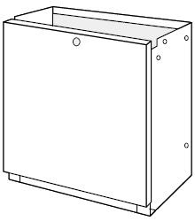 ノーリツ[NORITZ] 据置台 【D65-450-S】 ガス給湯器 関連部材 品コード:[0708357]