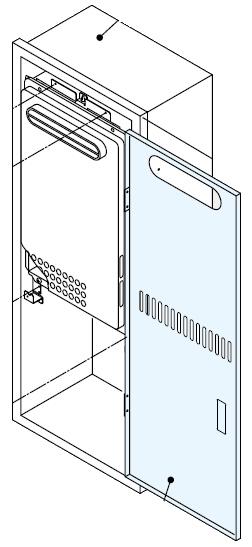ノーリツ[NORITZ] 壁組込給湯器用部材 【組込取付ボックスKB-10】 ガス給湯器 関連部材 品コード:[0704581]