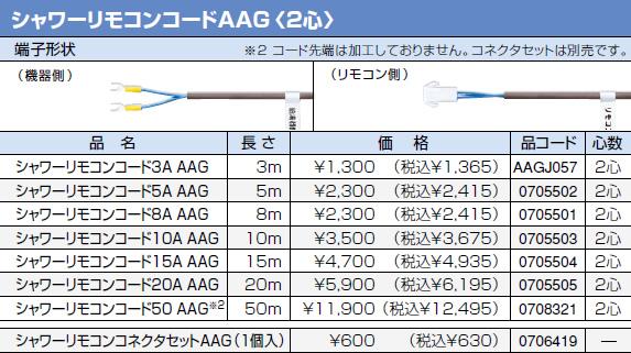 【0708321】ノーリツ 給湯器 関連部材 シャワーリモコンコード 50 AAGシールド 長さ:50m [2心]