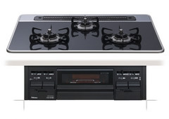 【PD-N57W-75CK】paloma ビルトインコンロ セレクションシリーズ ブラックフェイス ハイパーガラスコートトップ 75cm[新品]