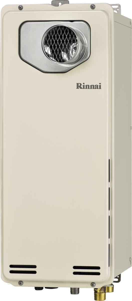 Rinnai[リンナイ] ガス給湯器 RUF-SA1615AT-L-80 ガスふろ給湯器 設置フリータイプ 16号 ふろ機能:フルオート 接続口径:15A 設置:φ80延長 品名コード:24-0087