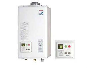 【代引き不可】RUX-V2405FFUA(本体+台所リモコン付)リンナイ ガス給湯器 給湯専用タイプ FF方式・屋内壁掛型(本体温度調節型)24号 音声ナビ付(RUX-V2400FFUAの後継新品番)