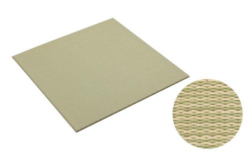 大建工業 DAIKEN 床材 YQ5101-2 01グリーン (銀白色×若草色) 820×820mm 彩園 (さいえん) 置き畳 ここち和座 置き敷きタイプ 2枚入り [自分で置くだけ、かんたん設置]