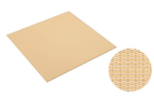 大建工業 DAIKEN 床材 YQ5102-2 02イエロー (黄金色×白茶色) 820×820mm 彩園 (さいえん) 置き畳 ここち和座 置き敷きタイプ 2枚入り [自分で置くだけ、かんたん設置]