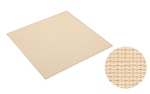 大建工業 DAIKEN 床材 YQ5003-31 03アイボリー (乳白色×白茶色) 970×970mm 彩園 (さいえん) 畳風床材 ここち和座 敷き込みタイプ 3枚入り [自分でかんたん施工、DIY]