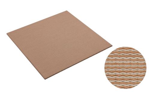 大建工業 DAIKEN 床材 YQ5005-21 05ブラウン (亜麻色×灰桜色) 970×970mm 彩園 (さいえん) 畳風床材 ここち和座 敷き込みタイプ 2枚入り [自分でかんたん施工、DIY]