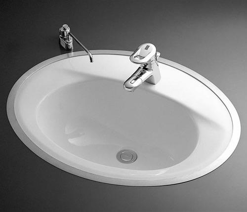 【送料無料】TOTO【L525RCU】【カラー:#NW1(ホワイト)】カウンター式洗面器 はめ込楕円形洗面器(フレーム式)