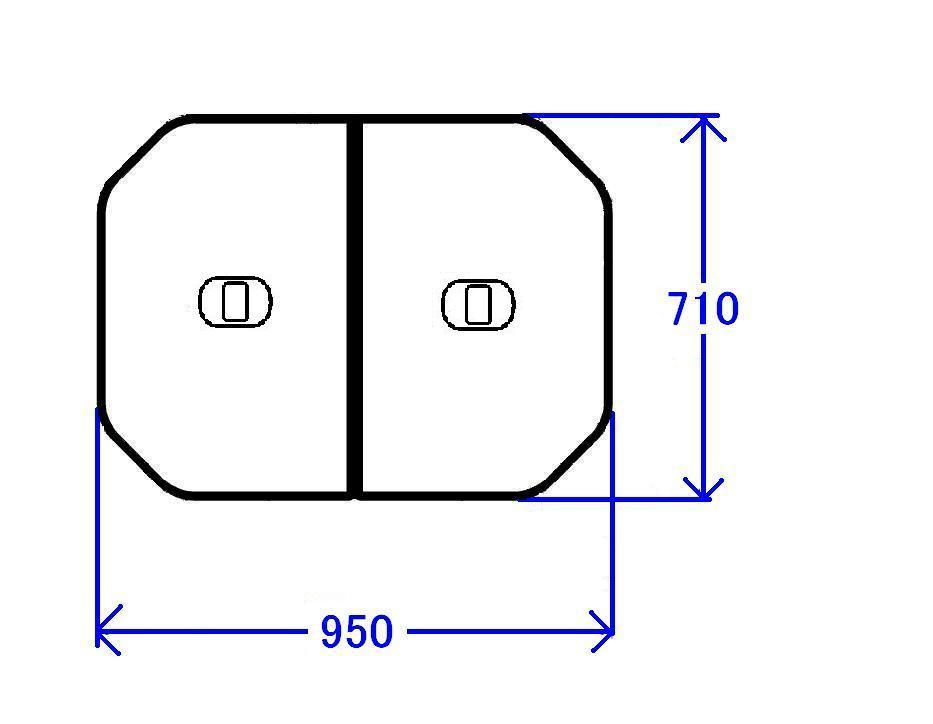 TOTO 軽量把手付組み合わせ式ふろふた(外寸:950×710mm)【PCF1000R#NW1】【pcf1000rnw1】[新品]