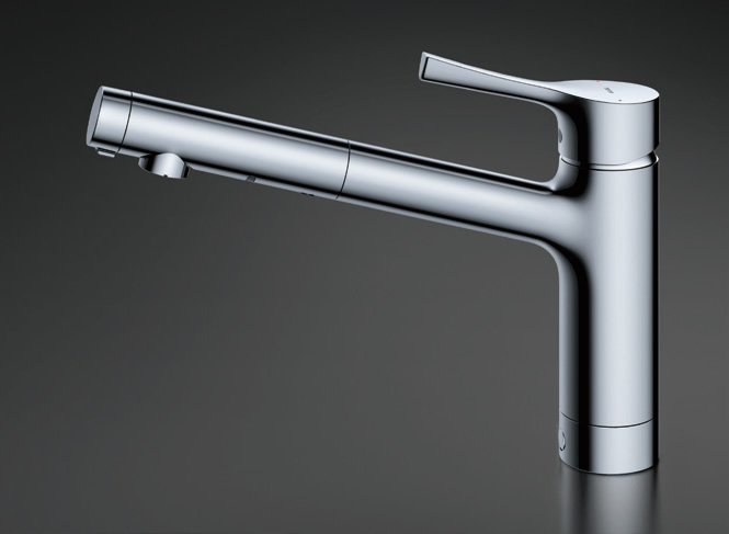 TOTO キッチン用水栓金具 TKS05304J GGシリーズ シングル混合水栓 (吐水切り替えタイプ) 台付シングル混合水栓 一般地・寒冷地共用 TOTO [トートー]