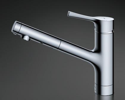 TOTO キッチン用水栓金具 TKS05305J GGシリーズ シングル混合水栓 (ハンドシャワー・吐水切り替えタイプ) 台付シングル混合水栓 TOTO [トートー]