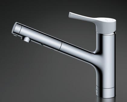 TOTO キッチン用水栓金具 TKS05306J GGシリーズ シングル混合水栓 (ハンドシャワー・吐水切り替えタイプ) 台付シングル混合水栓 TOTO [トートー]