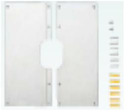 YY200 外壁部分配管貫通部をカーバーします 化粧カバー 200角X200角 ケースロット:10枚 東ア