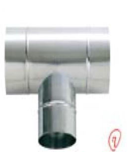 AD200T 空調用部材. 亜鉛スパイラル部品 T管 200φX200φX200φ ケースロット:10個 東ア