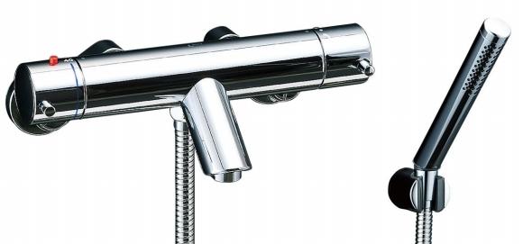 【BF-E147T】eモダン + スプレーシャワー(メッキ仕様) INAX イナックス LIXIL・リクシル シャワーバス水栓【BFE147T】サーモスタット付 シャワーバス水栓